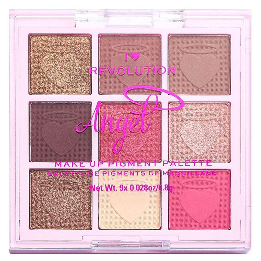 Makeup Revolution I Heart Revolution Fantasy Makeup Pigment Palette, Angel (9 x 0,8 g)