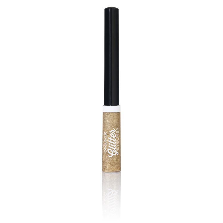 Beauty UK Glitter Liquid Eyeliner, No. 2 Gold