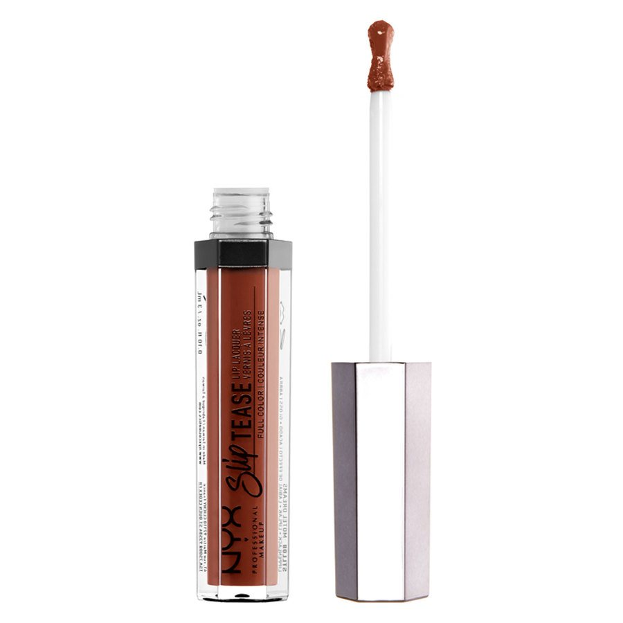 NYX Professional Makeup Slip Tease Lip Lacquer, Coral (3 ml)