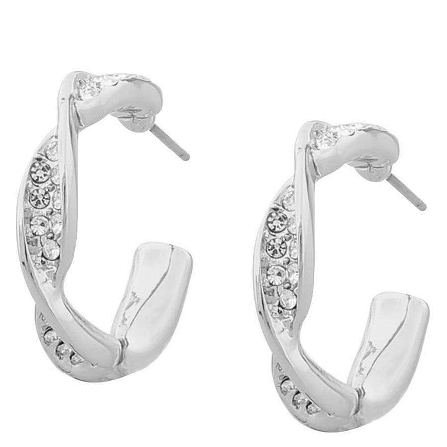 Snö Of Sweden Leonie Small Oval Earring, Silver/Clear