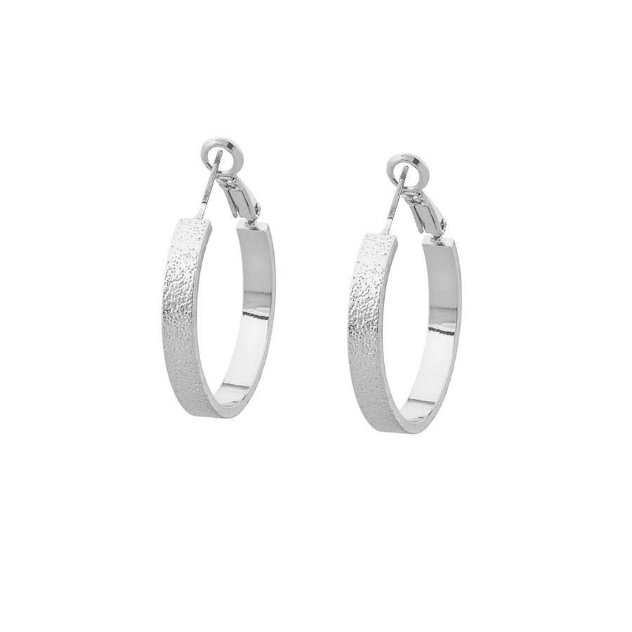 Snö of Sweden Lynx Small Ring Earring, Plain Silver
