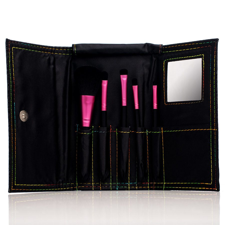 Shelas Schmink-Pinsel Set, Black Edition 5 Stk