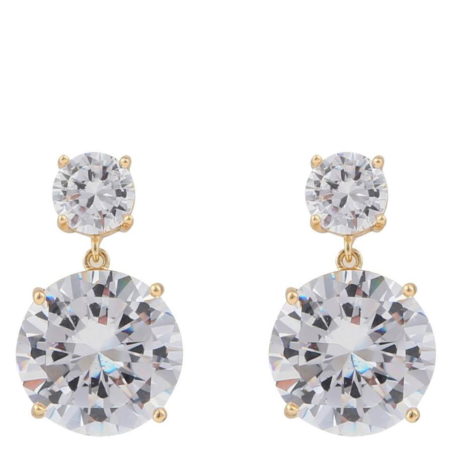 Snö Of Sweden Duo Pendant Earring, Gold/Clear