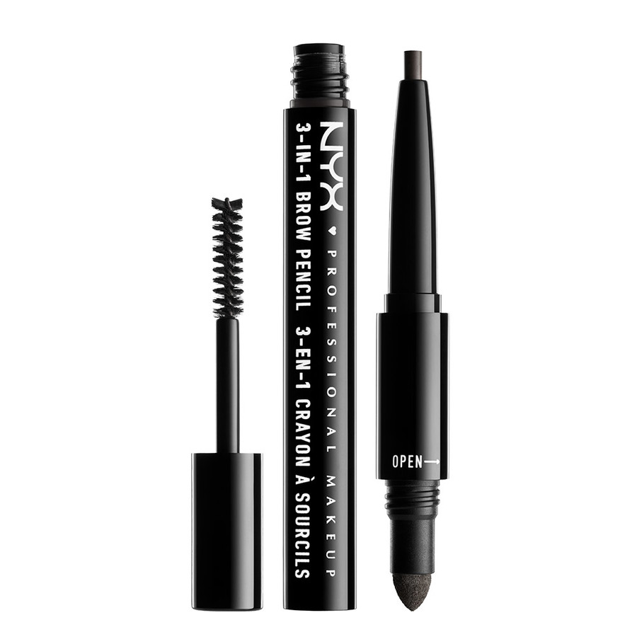 NYX Prof. Makeup 3-In-1 Brow, Charcoal 31B09