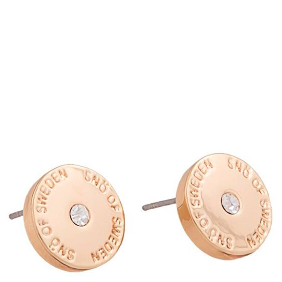 Snö Of Sweden Harly Small Earring, Rosé/Clear (10mm)