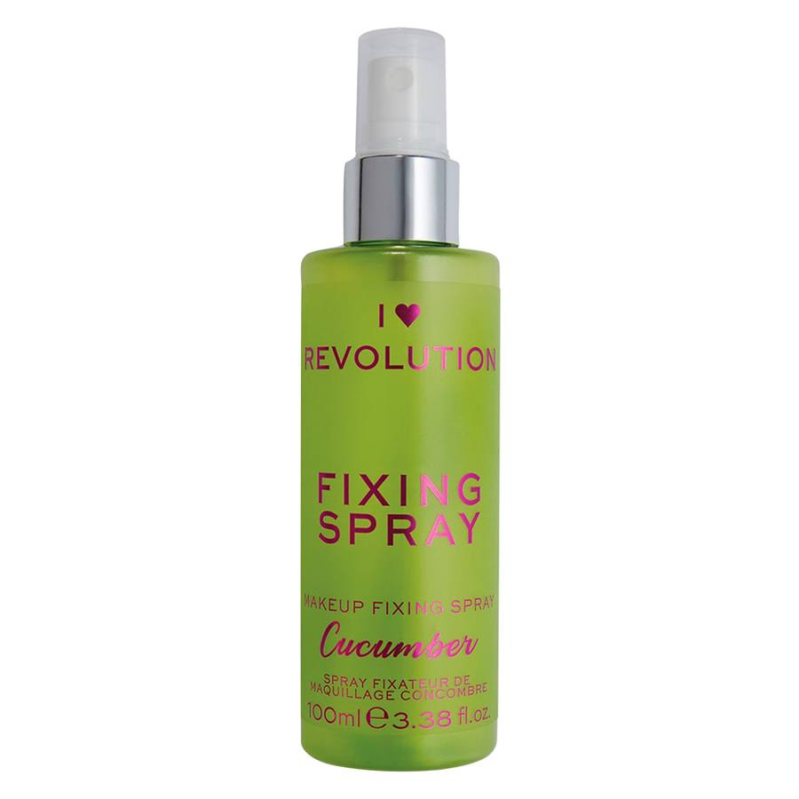 Makeup Revolution I Heart Scented Fixing Spray, Cucumber (100 ml)