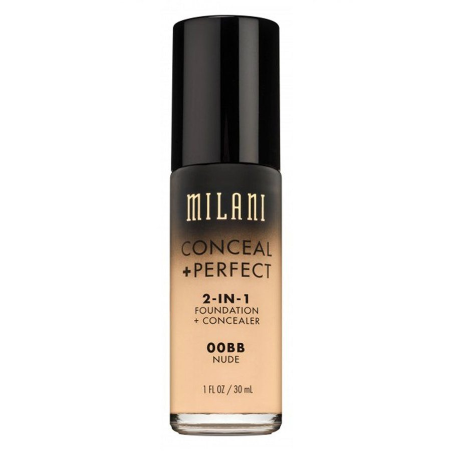 Milani Conceal & Perfect 2 In 1 Foundation + Concealer, Nude 30ml