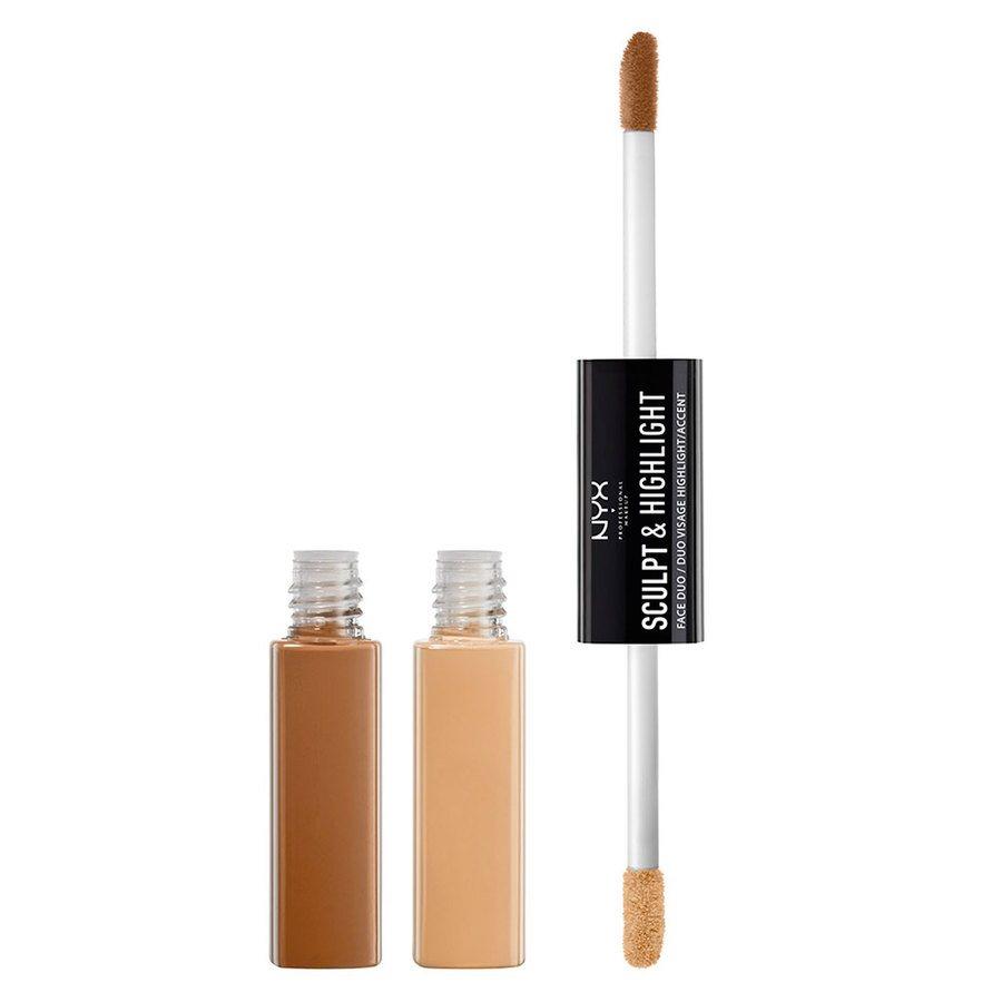 NYX Professional Makeup Sculpt & Highlight Face Duo, Almond/Light
