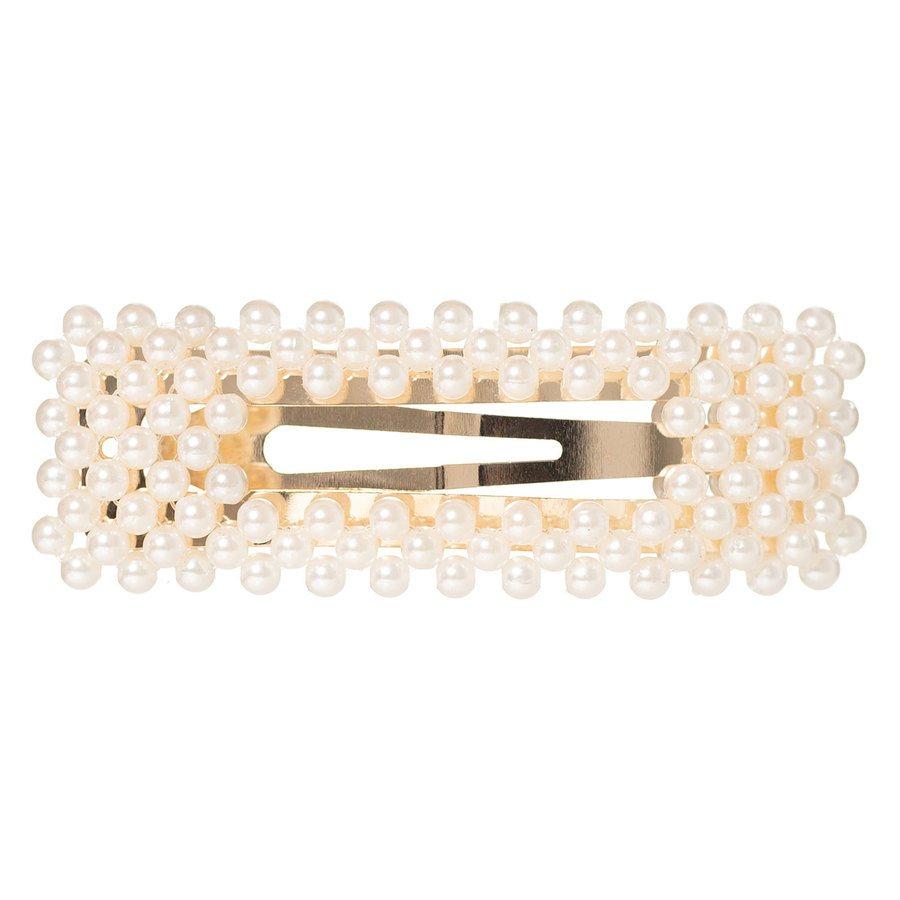Hairclip pearl Square 03 Gold