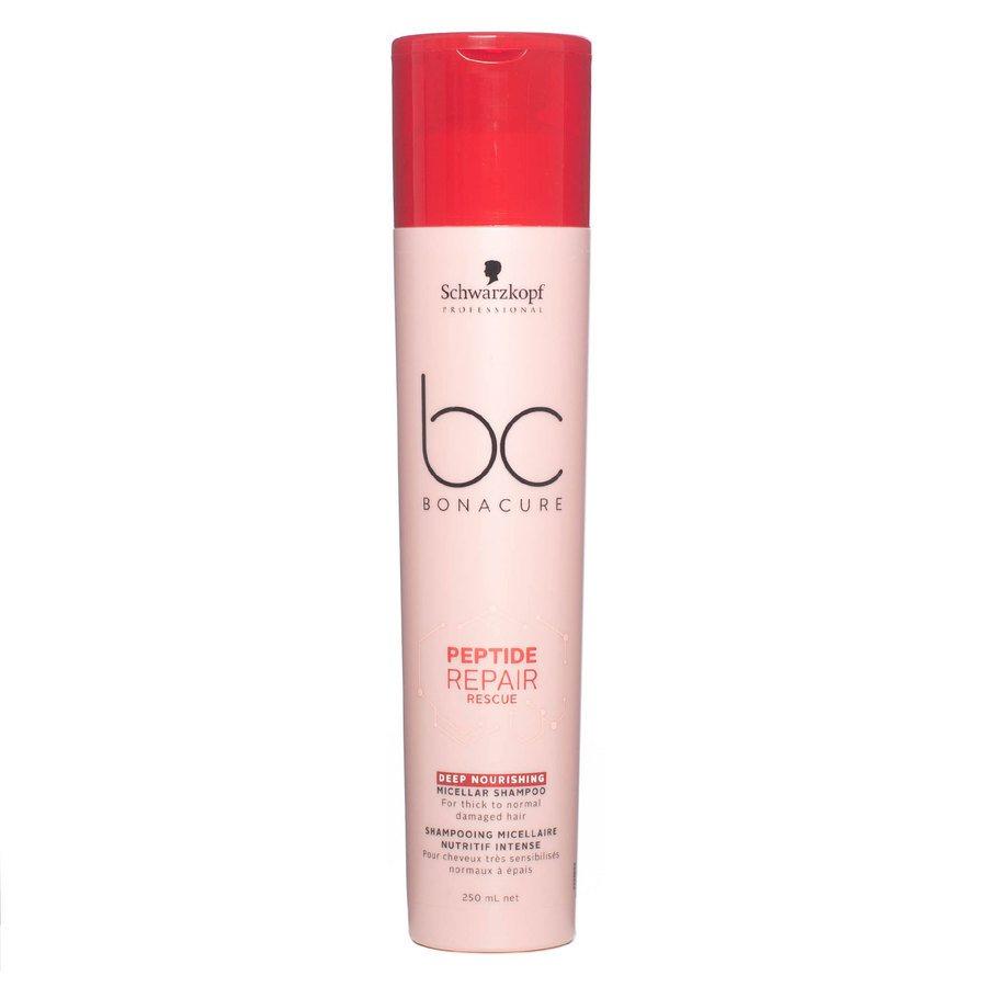 Schwarzkopf BC Peptide Repair Rescue Shampoo Deep Nourishing (250 ml)
