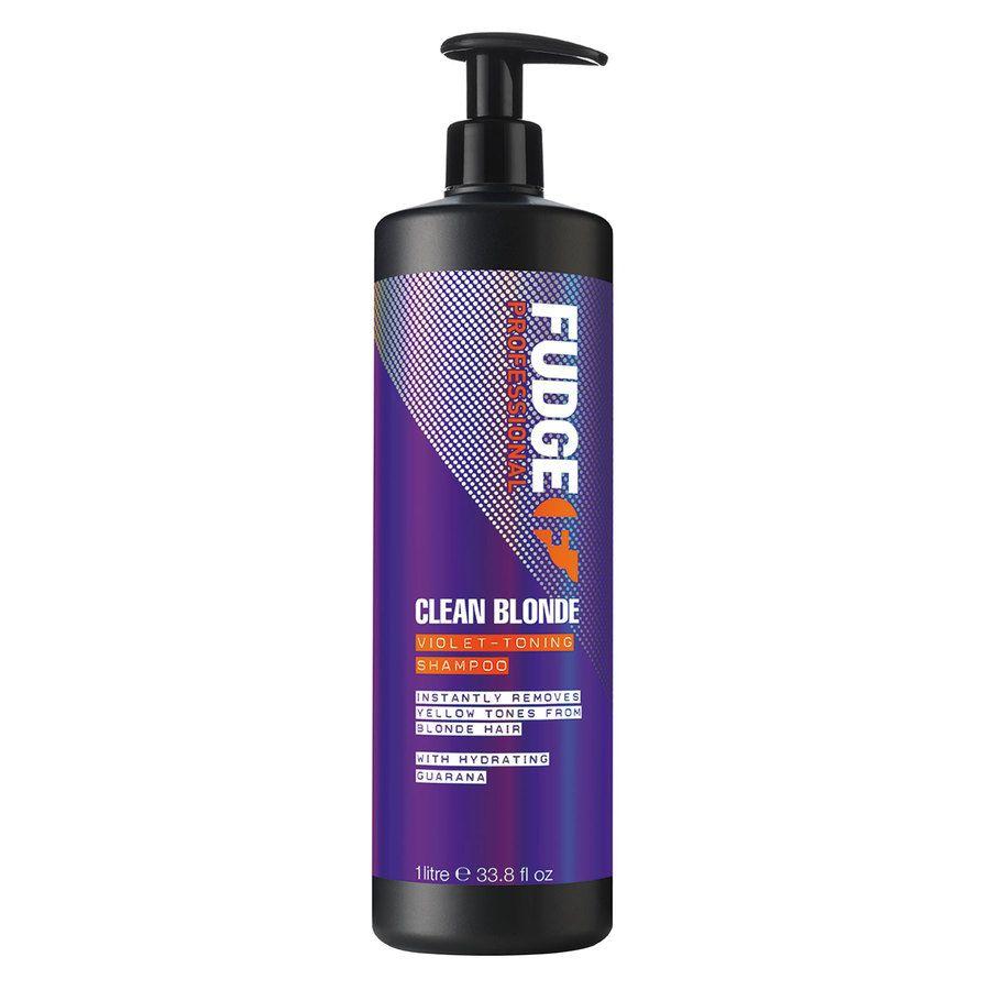 Fudge Clean Blonde Violet Toning Shampoo (1000 ml)