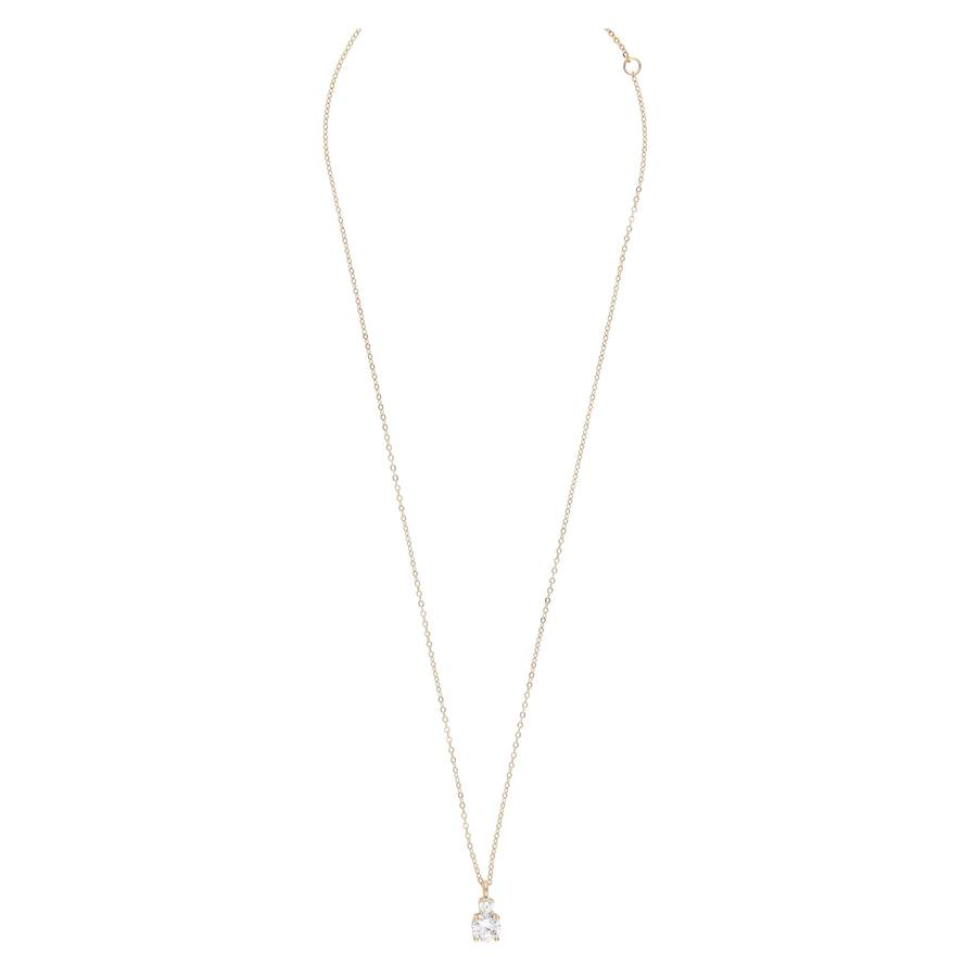 Snö Of Sweden Duo Pendant Necklace Gold/Clear (42 cm)