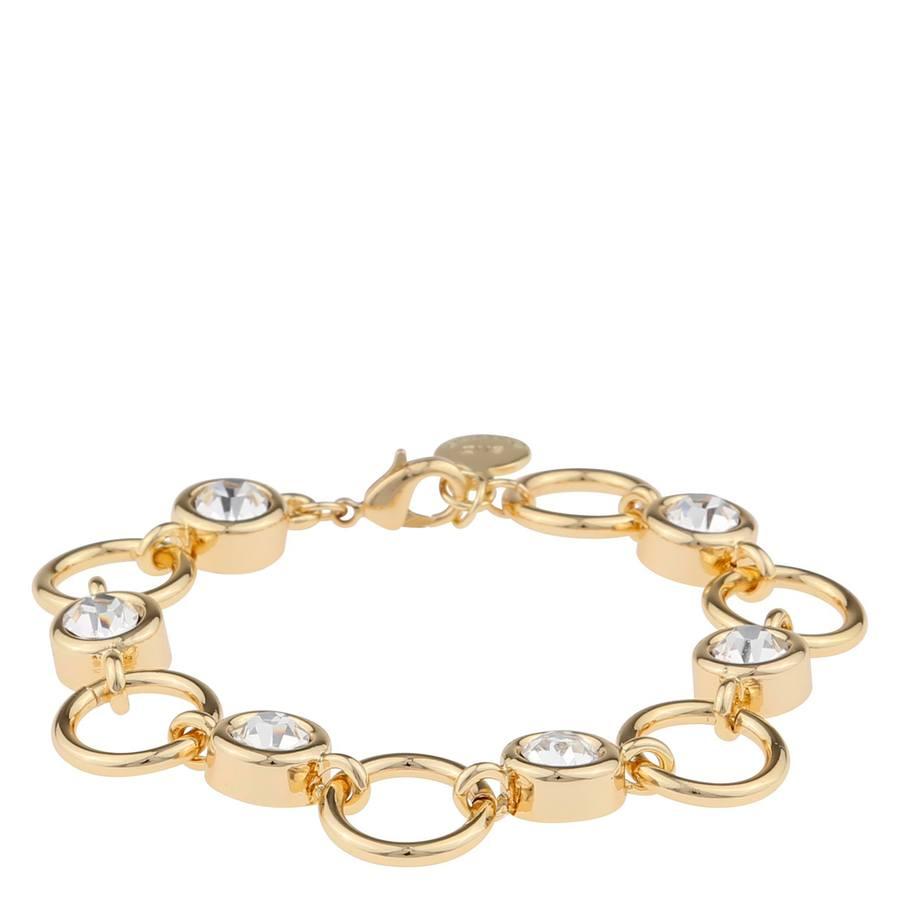 Snö Of Sweden Keira Bracelet, Gold/Clear, (16-17 cm)