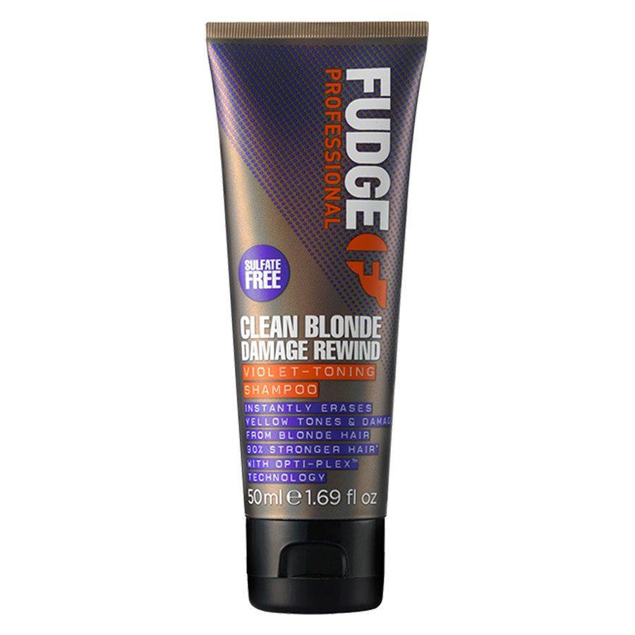 Fudge Clean Blonde Damage Rewind Violet Toning Shampoo (50 ml)