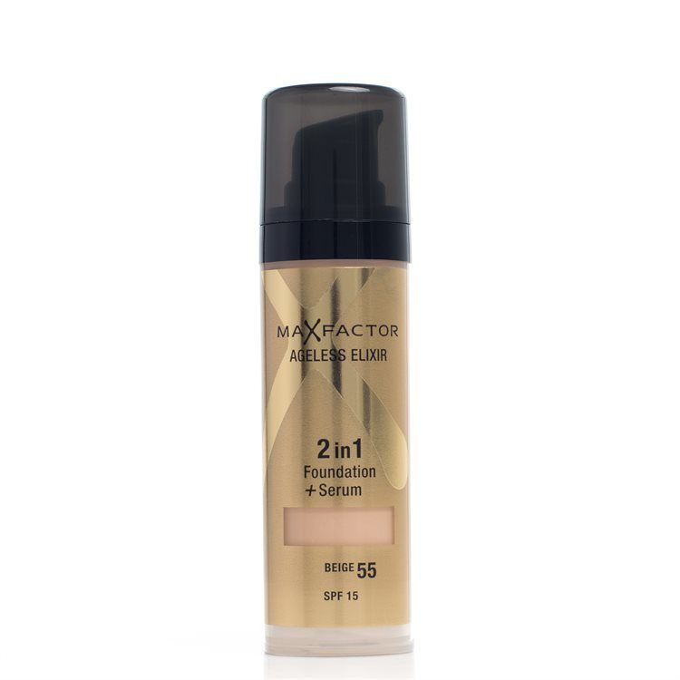 Max Factor Ageless Elixir 2-in-1 Foundation + Serum LSF 15, Beige 55