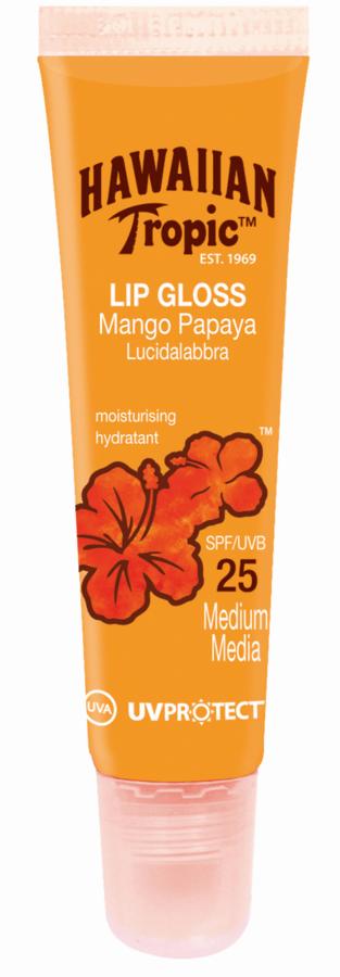 Hawaiian Tropic Lip Gloss, Mango Papaya LSF 25 (20 ml)