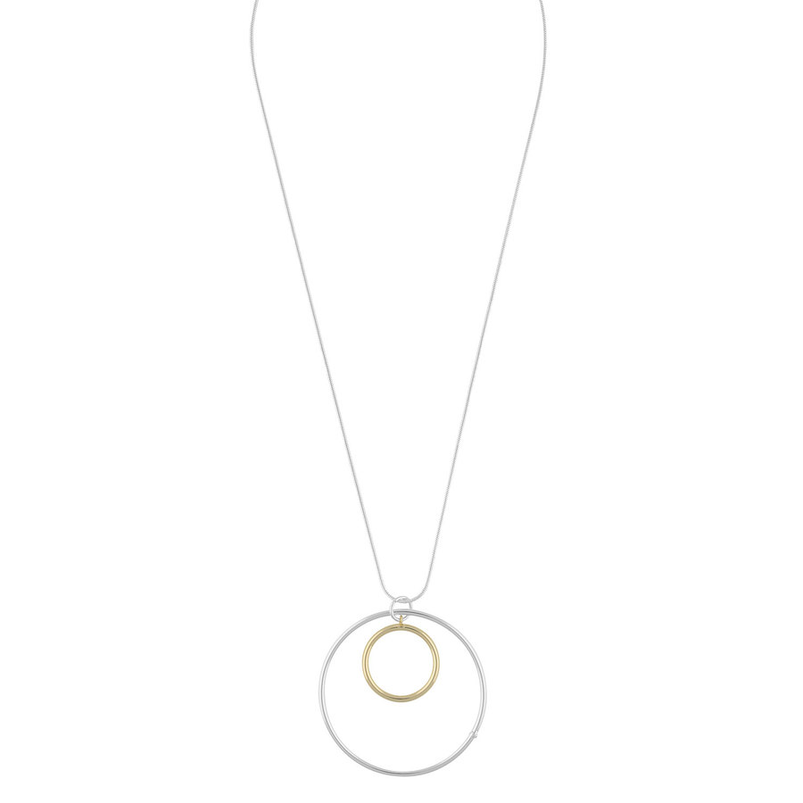 Snö of Sweden Lowa Ring Pendant Neck Plain Gold 42cm