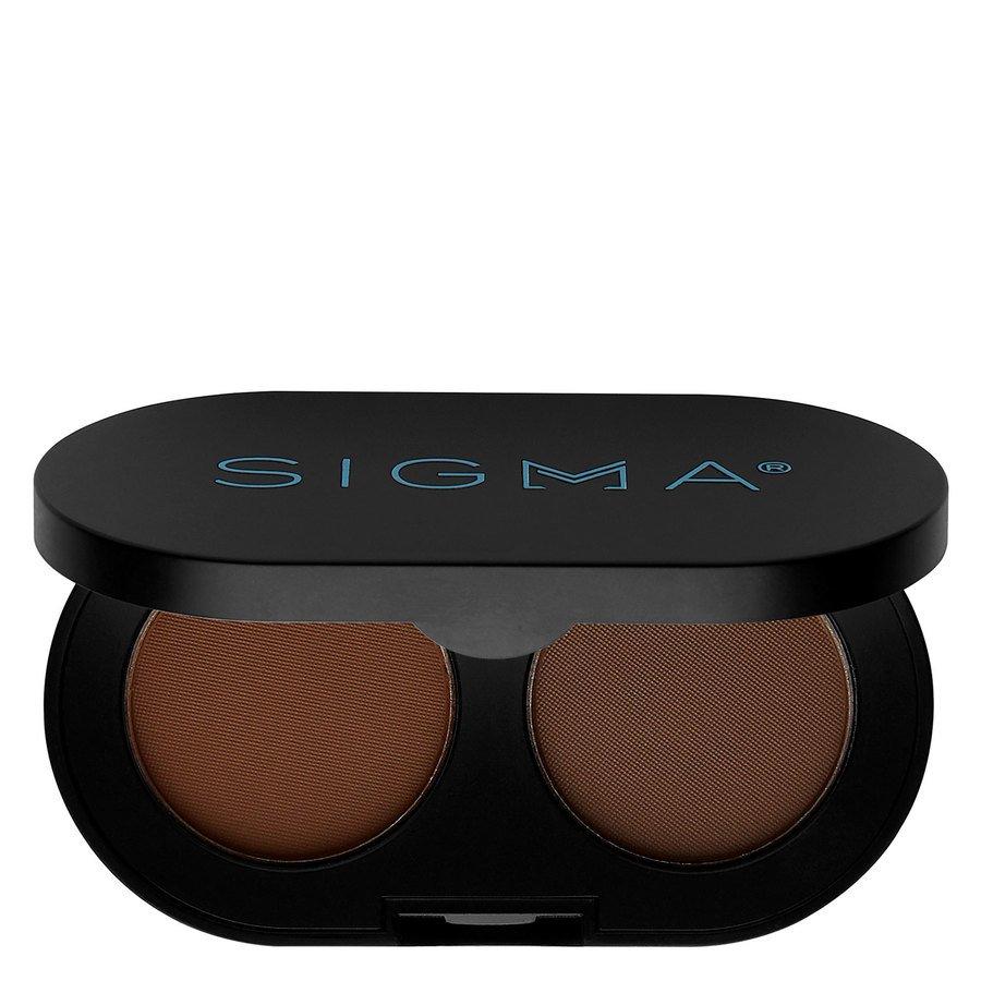 Sigma Color And Shape Brow Powder Duo, Dark (3 g)