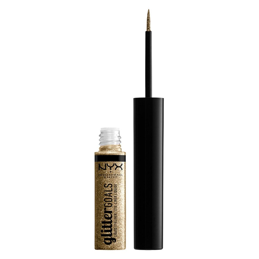 NYX Professional Makeup Glitter Goals Liquid Eyeliner (4 ml), Golden