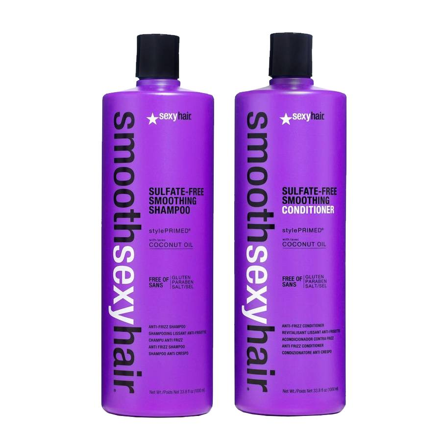 Sexy Hair Smoothing Shampoo and Conditioner (2 x 1.000 ml, Doppelpack)