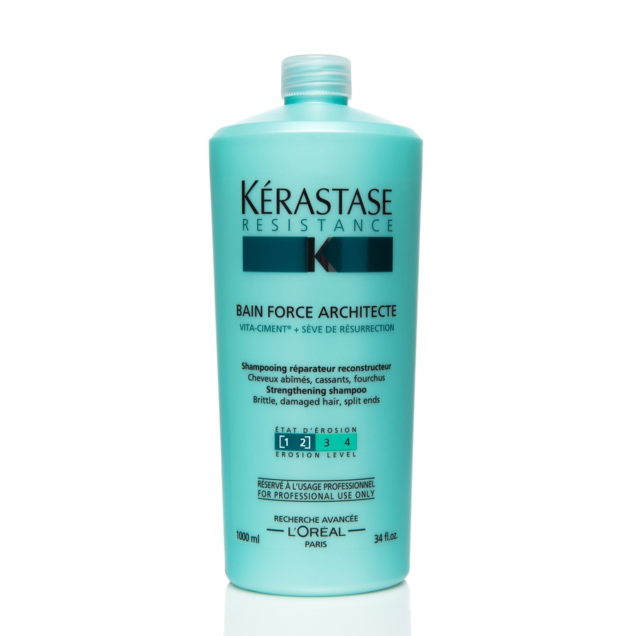 Kérastase Resistance Bain Force Architecte Strengthening Shampoo (1000 ml)