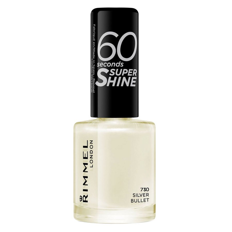 Rimmel London 60 Seconds Super Shine Nail Polish, # 730 Silver Bullet (8 ml)