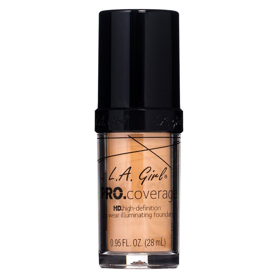 L.A. Girl Pro Coverage Illuminating Foundation, GLM645 Nude Beige