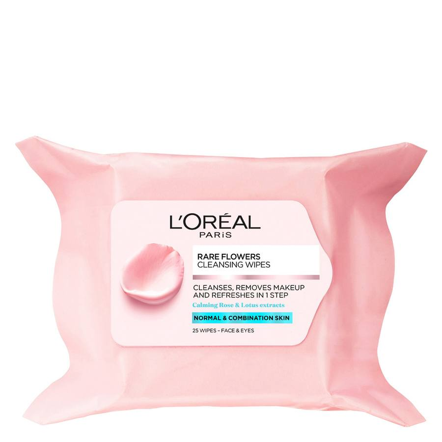L'Oréal Paris Rare Flowers Cleansing Wipes (25 Stück)