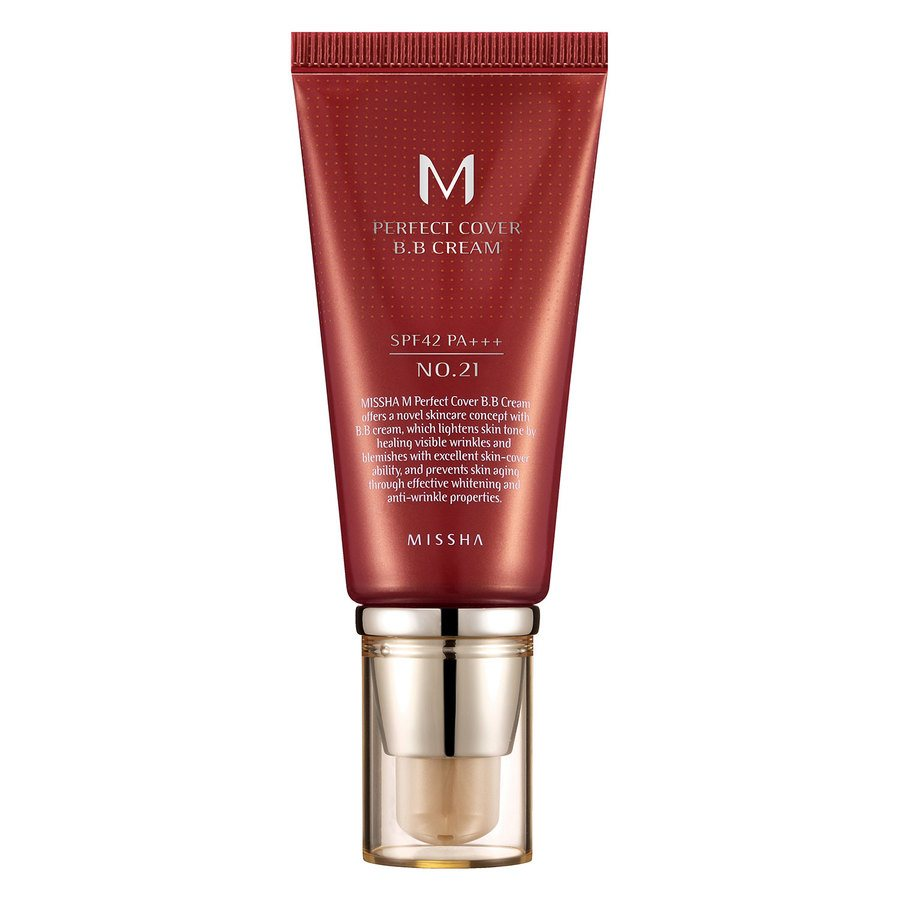 Missha M Perfect Cover BB Cream LSF42/Pa +++, No. 21 Light Beige (50 ml)