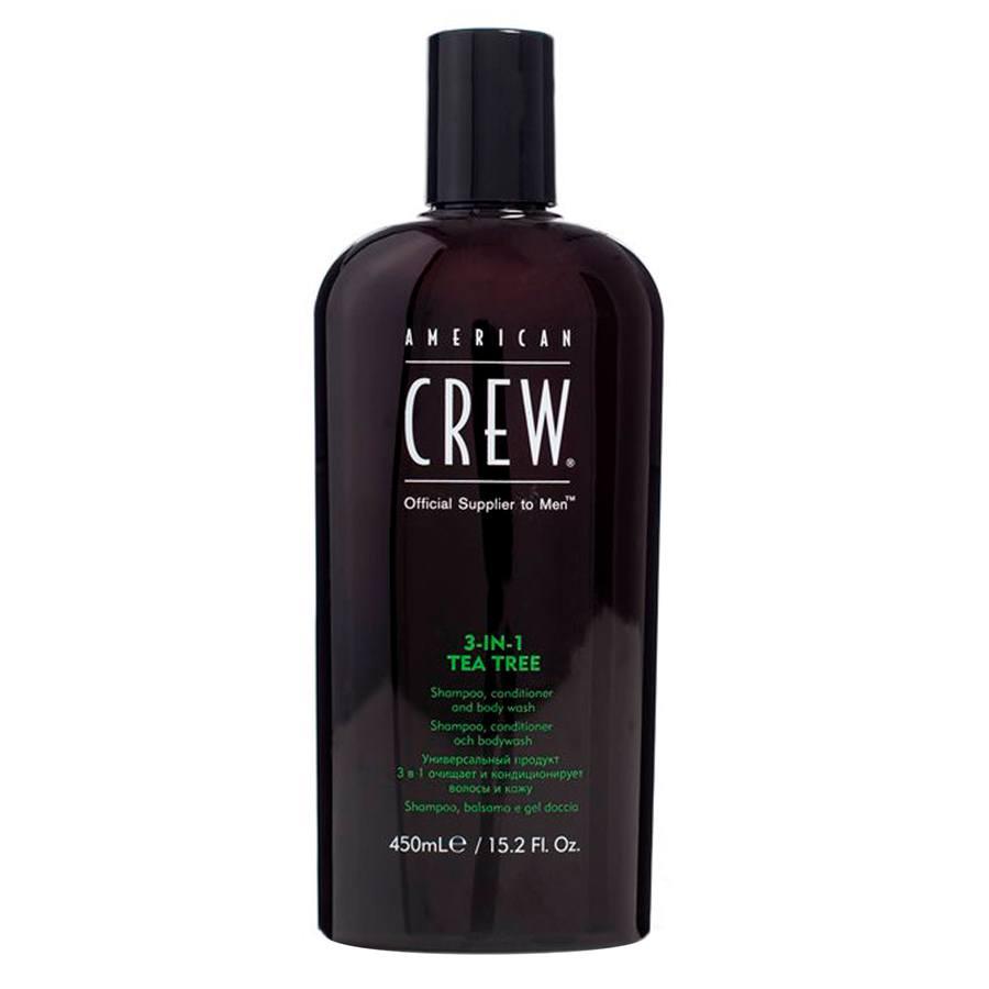 American Crew 3 In 1 Tea Tree Shampoo, Conditioner and Body Wash (450 ml)