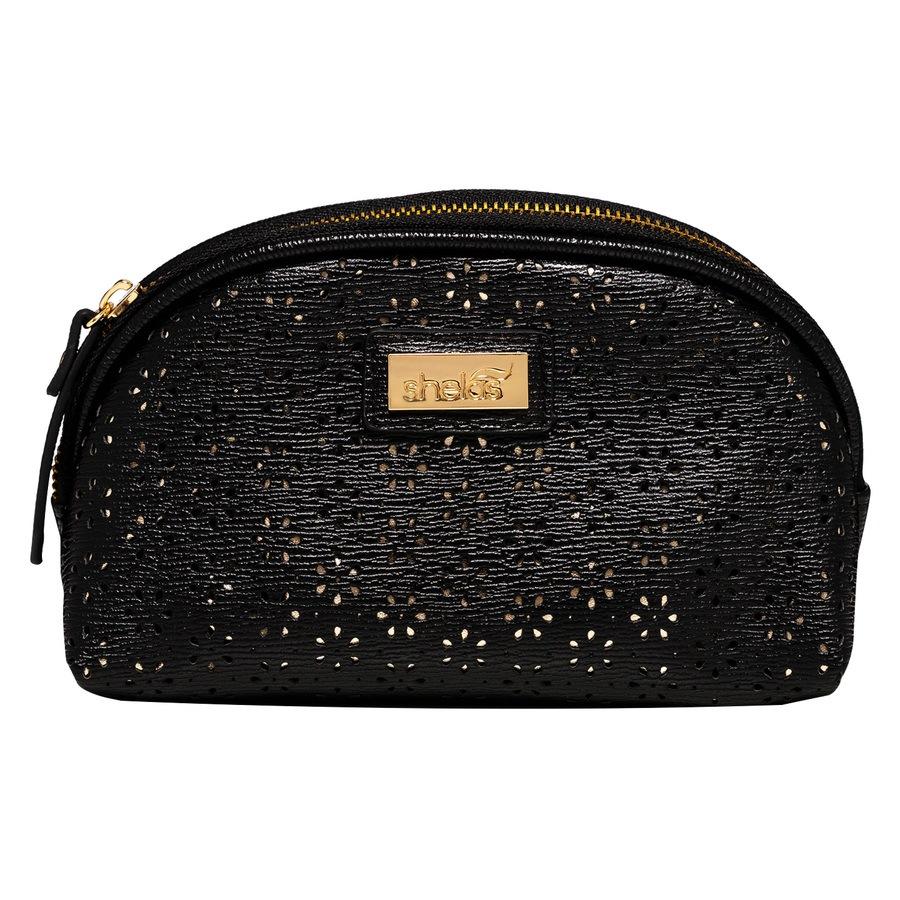 Shelas kleine Make-up-Tasche, schwarz/gold