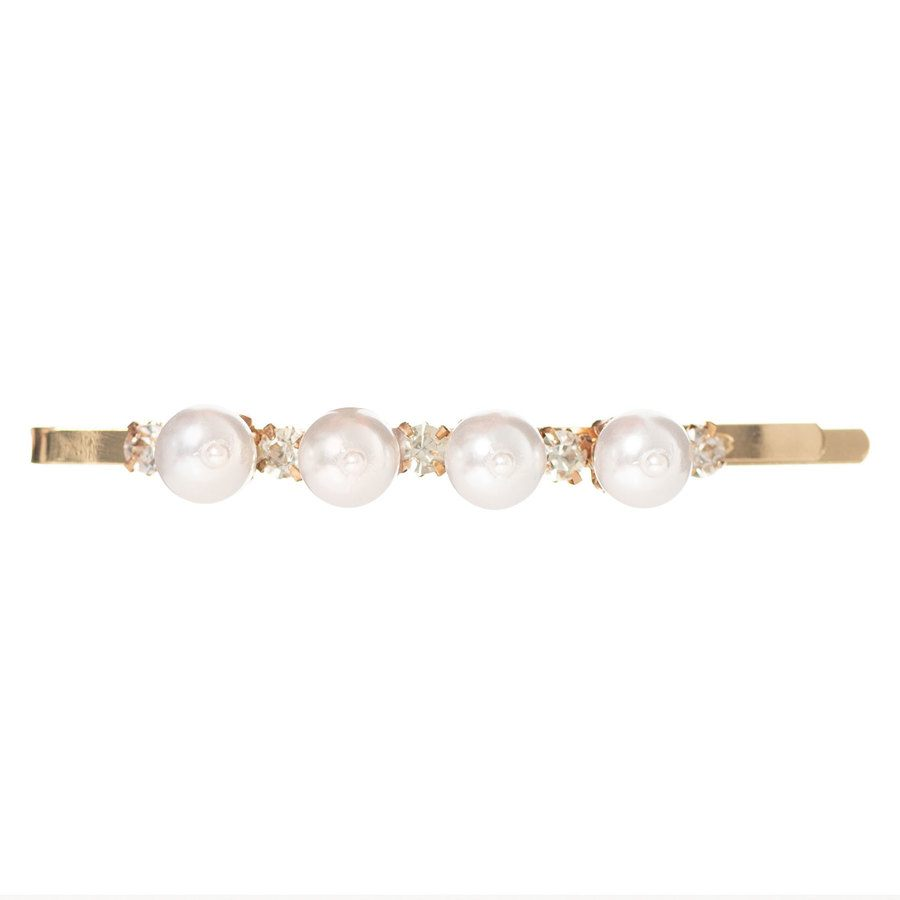 Just D`Lux Hairclip Pearls Slim 03 Gold