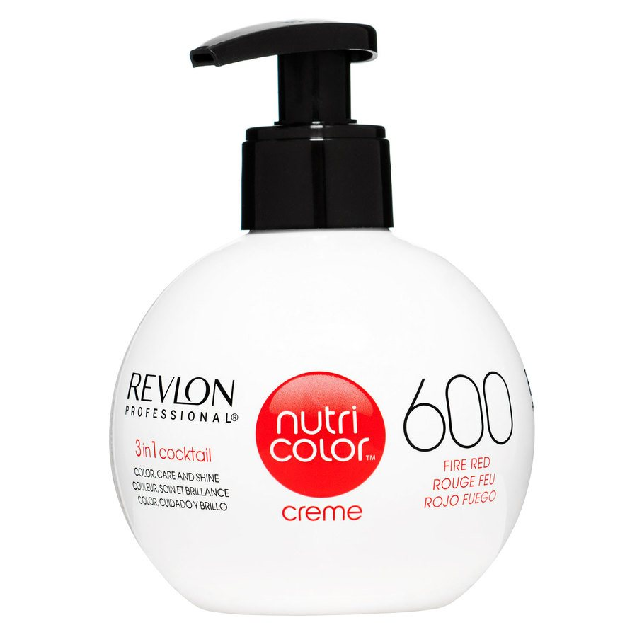 Revlon Professional Nutri Color Creme, #600 Fire Red (270 ml)