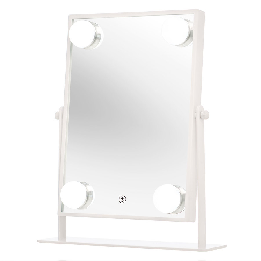Shelas 4 Led Hollywood Mirror (181 x 285 mm), White