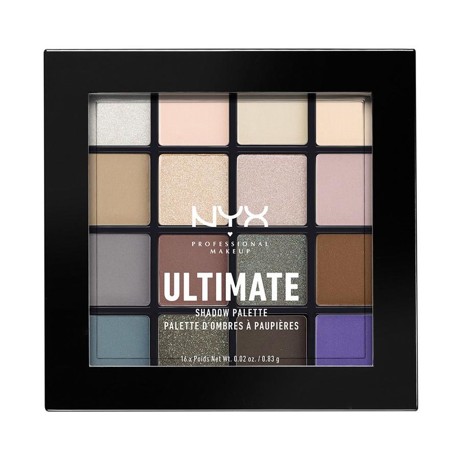NYX Professional Makeup Ultimate Eyeshadow Palette Lidschattenpalette, Cool Neutrals USP02
