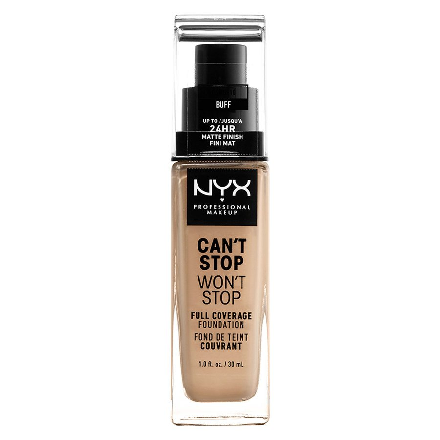 NYX Professional Makeup Can't Stop Won't Stop Full Coverage Foundation (30ml), Buff