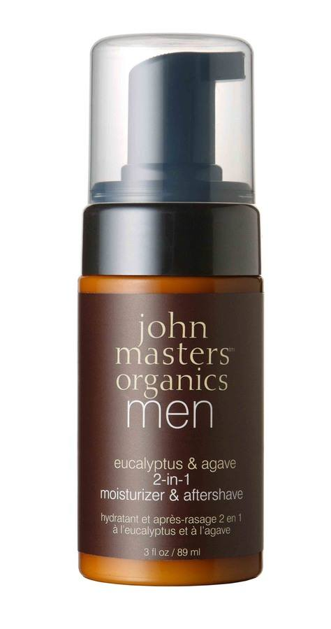 John Masters Organics Men's 2-in-1 Eucalyptus and Agave Moisturizer and Aftershave Foam (89 ml)