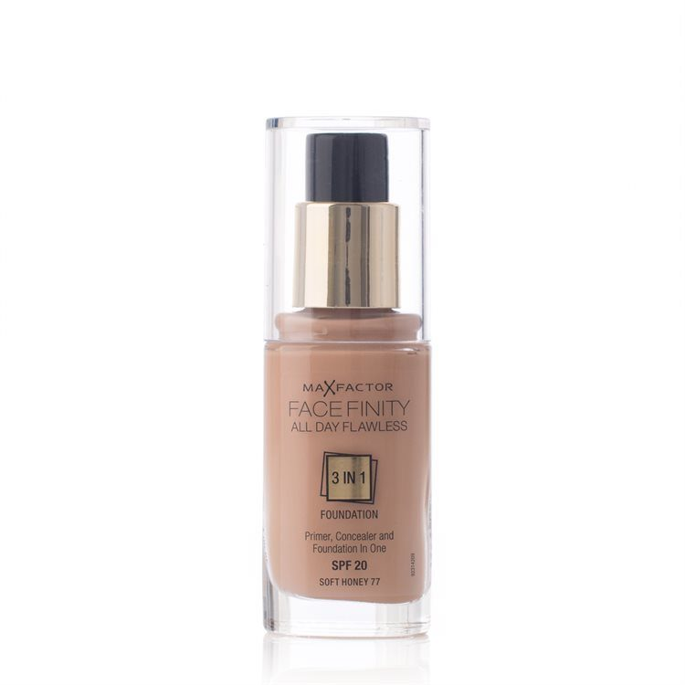 Max Factor Facefinity 3 In 1 Foundation, 77 Soft Honey (30 ml)