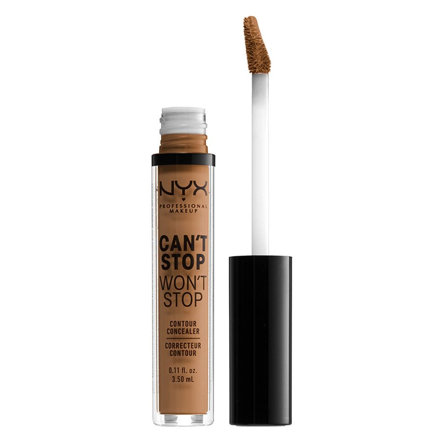 NYX Professional Makeup Can't Stop Won't Stop Contour Concealer (3,5 ml), Warm Honey