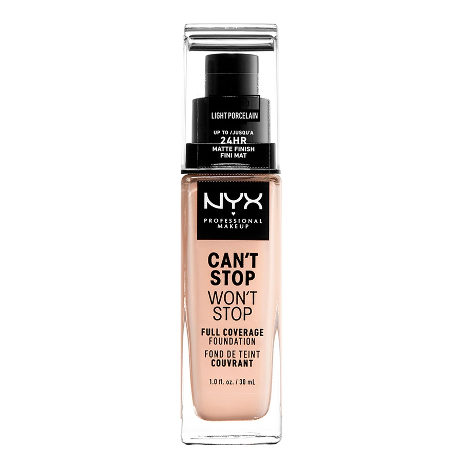 NYX Can't Stop Won't Stop Full Coverage Foundation 30ml, Light Porcelain