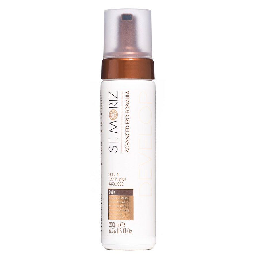 St. Moriz Advanced Pro Formula Develop 5-In-1 Tanning Mousse, Dark (200 ml)