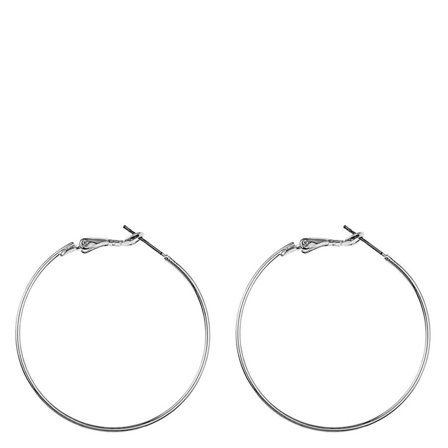 Snö Of Sweden Mystic Big Ring Earring, Plain Silver (40 mm)