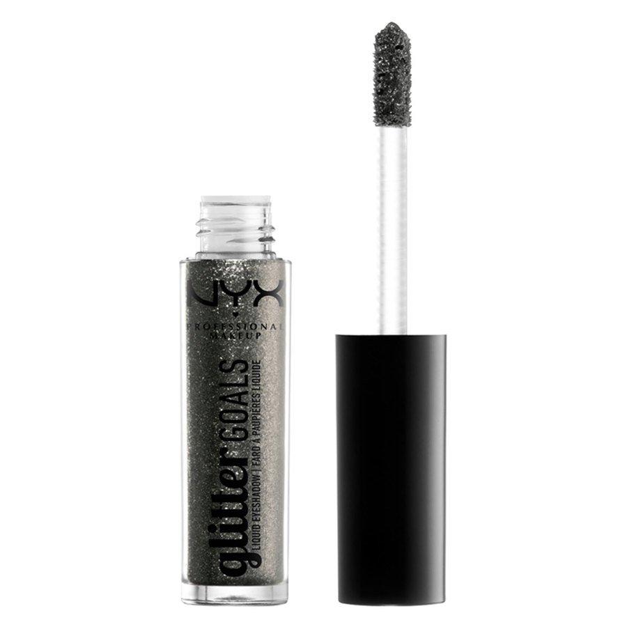 NYX Professional Makeup Glitter Goals Liquid Eyeshadow, Shade 8 Grey (3,5 g)