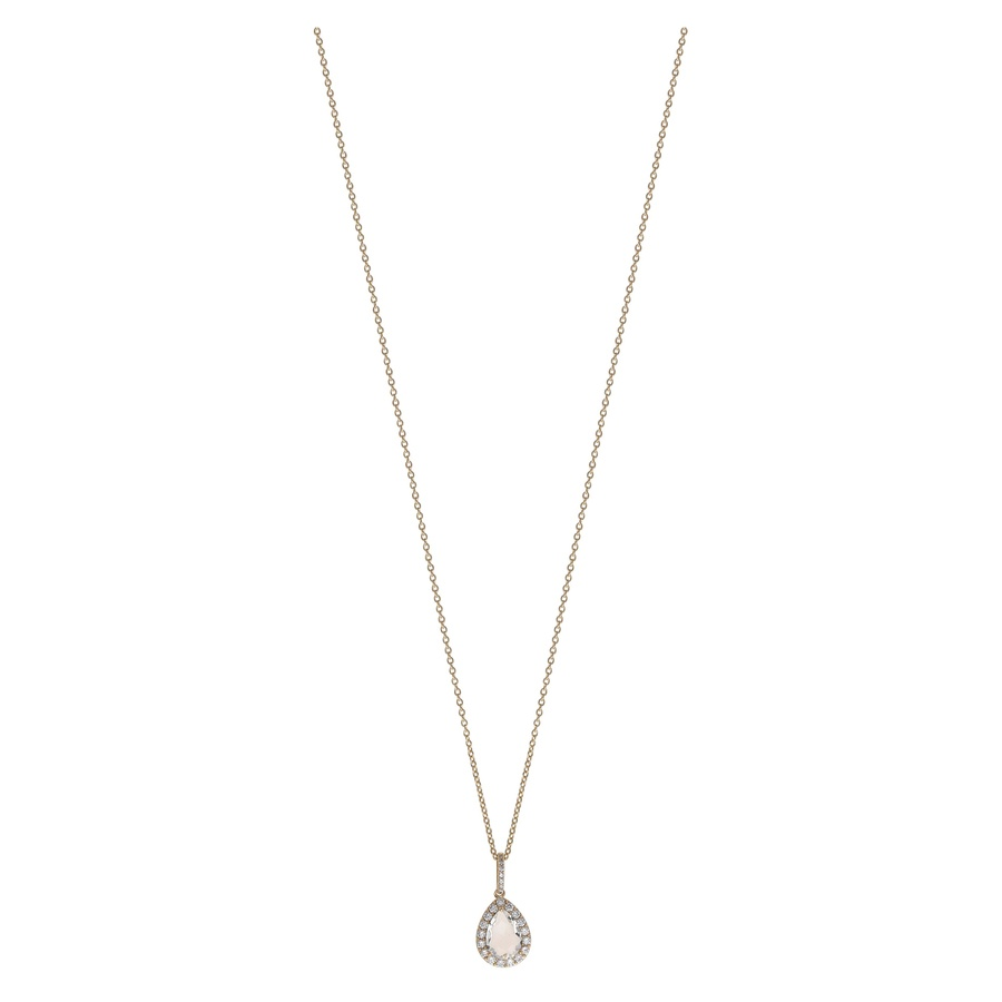 Snö Of Sweden Three Pendant Necklace, Gold/Clear (42 cm)