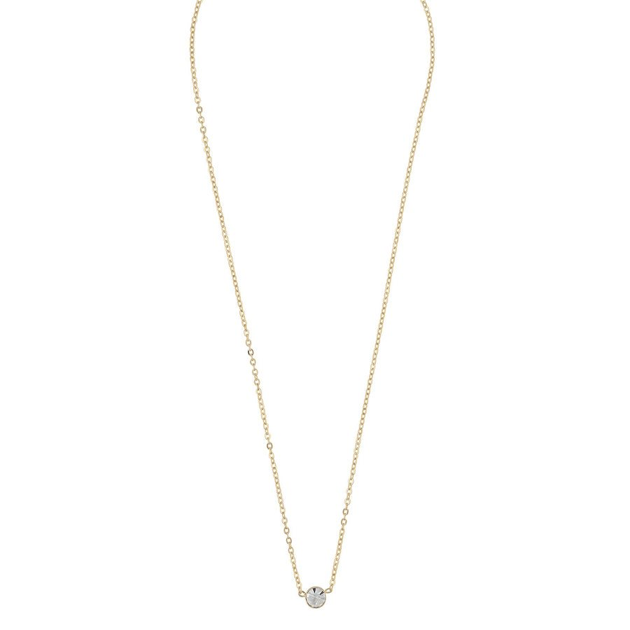 SNÖ of Sweden Josephine Small Pendant Neck Gold/Clear 42cm