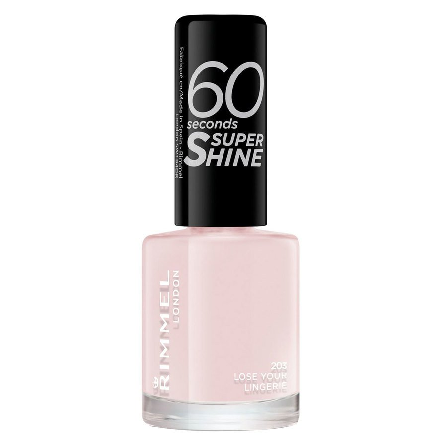 RimmelLondon 60 Seconds Super Shine Nail Polish, # 203 Lose Your Lingerie (8 ml)