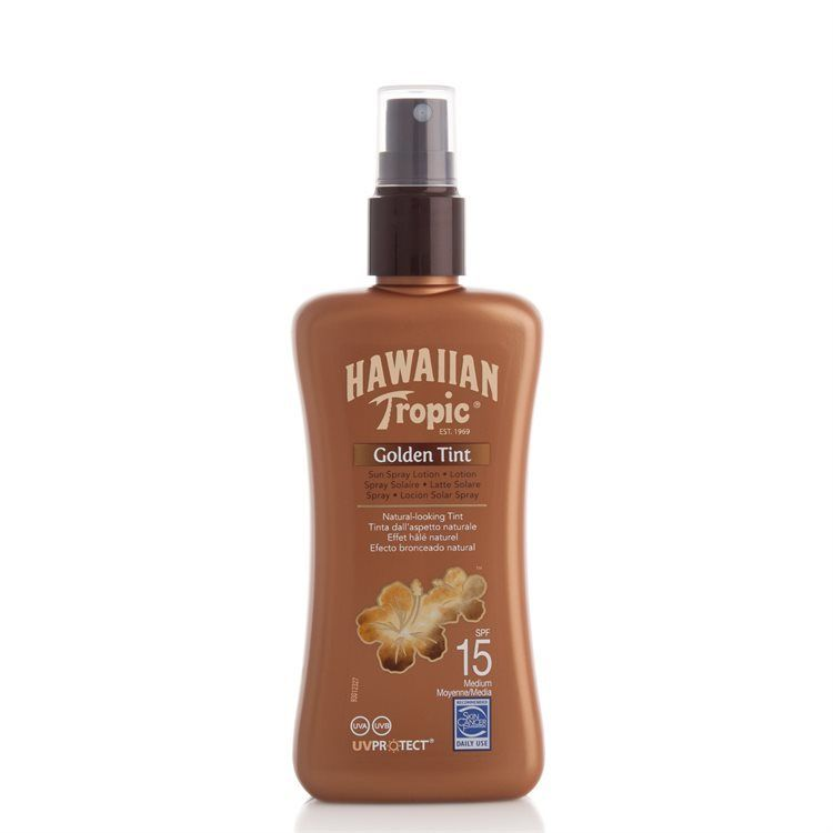 Hawaiian Tropic Golden Tint Spray Lotion LSF 15