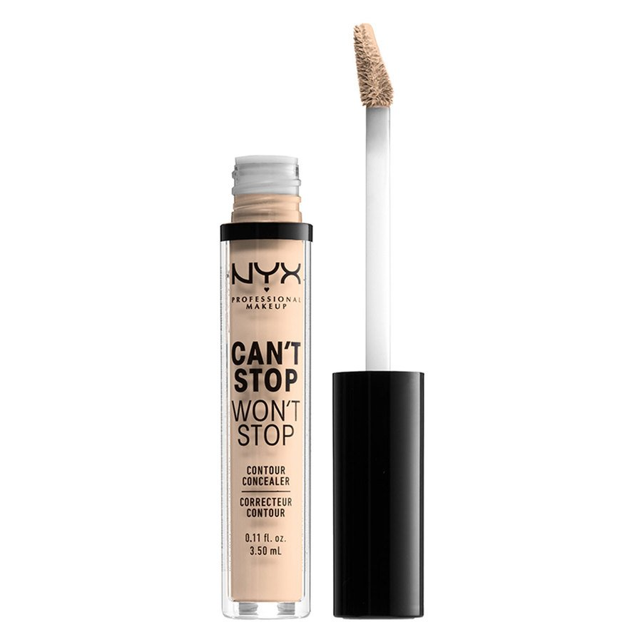 NYX Professional Makeup Can't Stop Won't Stop Contour Concealer (3,5ml), Light Ivory