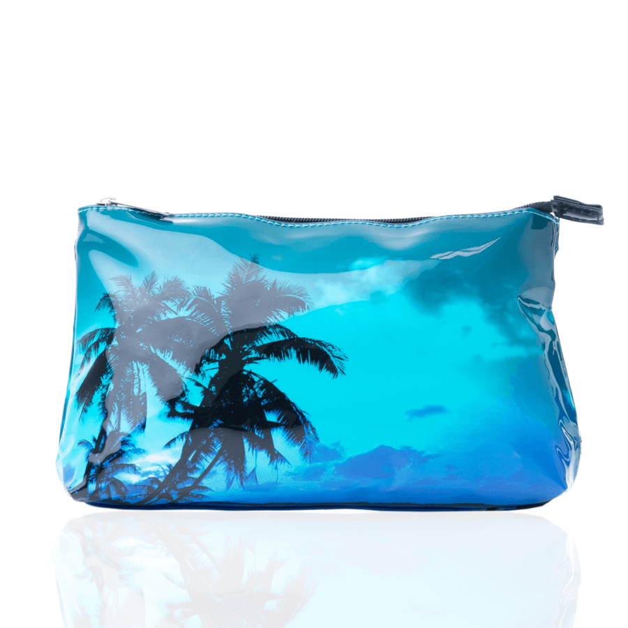 "Shelas Kulturtasche ""Blue Palms"""
