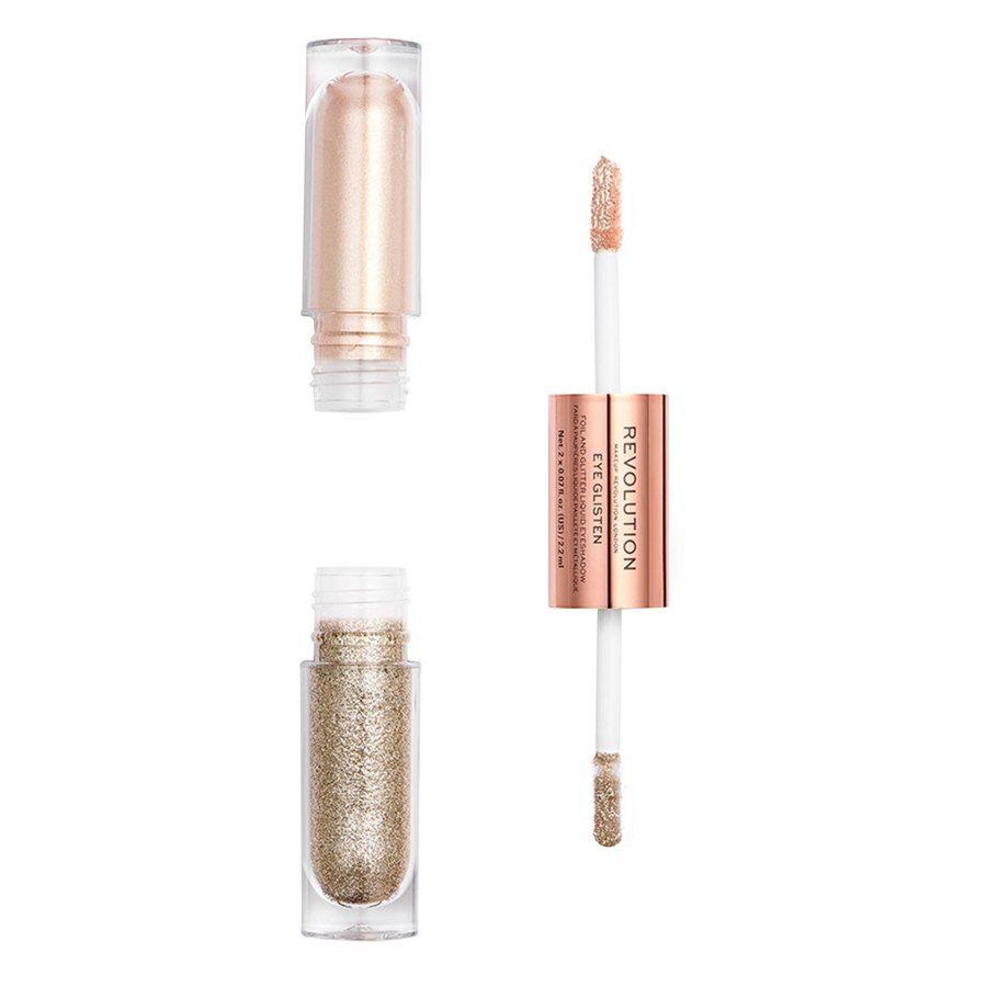 Makeup Revolution Eye Glisten Foil And Glitter Liquid Eyeshadow, It's Fate (2 x 2,2 ml)